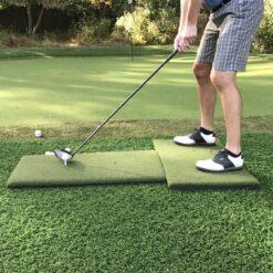 Portable Twin Combo Golf Mat Pair