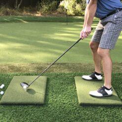 Portable golf driving range mat