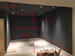 "Prep the walls and plan the Dri-core 7/8"" sub-floor panels"