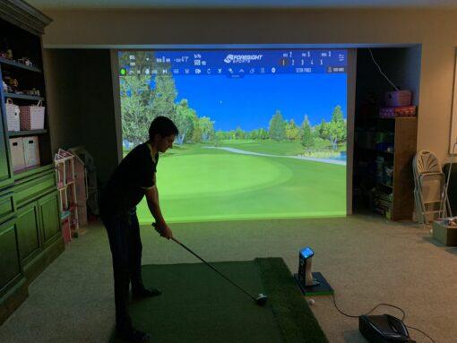 Golf Simulator Screen - Retractable